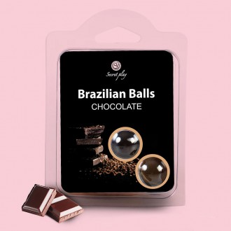 KISSABLE LUBRICANT BALLS CHOCOLATE FLAVOUR 2 x 4GR