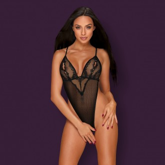 OBSESSIVE MILLAGRO CROTCHLESS TEDDY BLACK