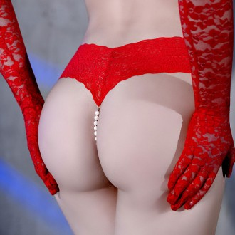 CR-4395 PEARL THONG RED