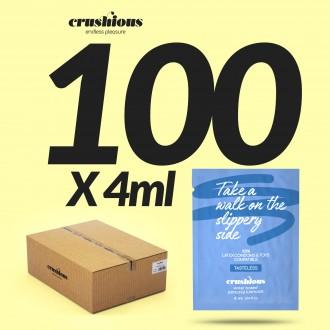 PACK 100 SACHET CRUSHIOUS WATERBASED LUBRICANT 4 ML