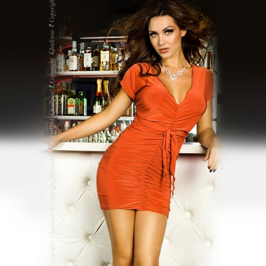 DRESS CR-3164 ORANGE