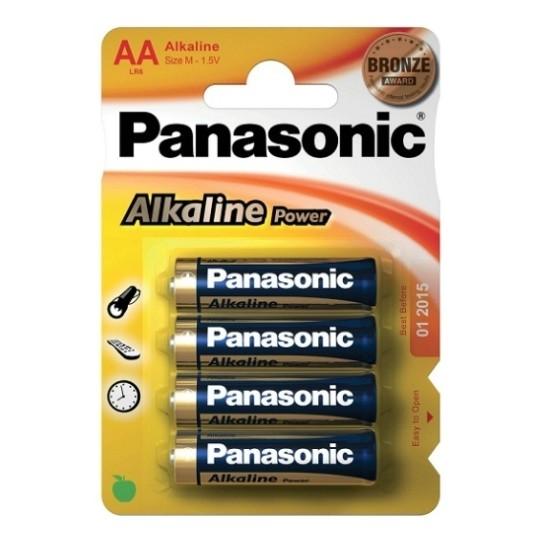 4 AA ALKALINE PANASONIC BATTERIES