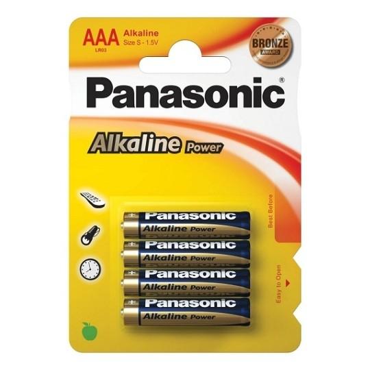 4 AAA ALKALINE PANASONIC BATTERIES