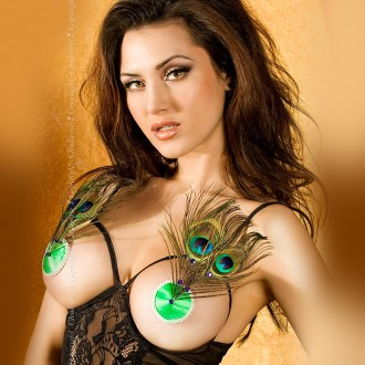 NIPPLE COVERS WITH FEATHERS CR-3340