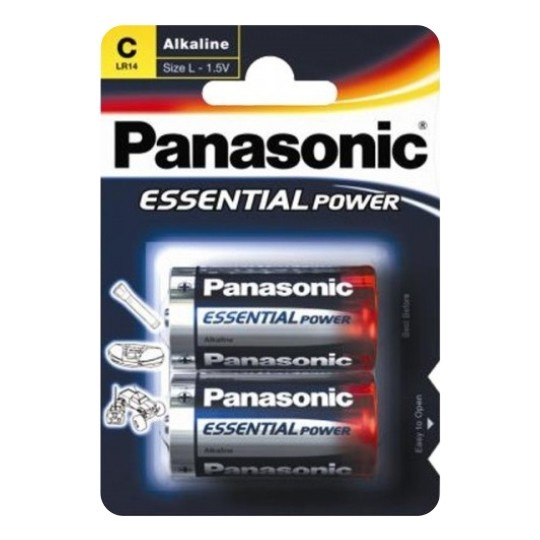 2 C LR14 ALKALINE PANASONIC BATTERIES
