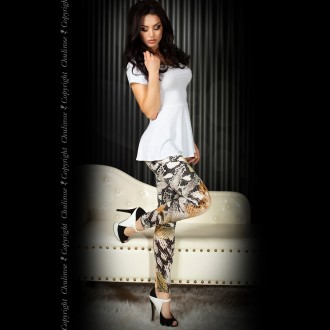 LEGGINGS CR-3457 VERDES Y NEGROS