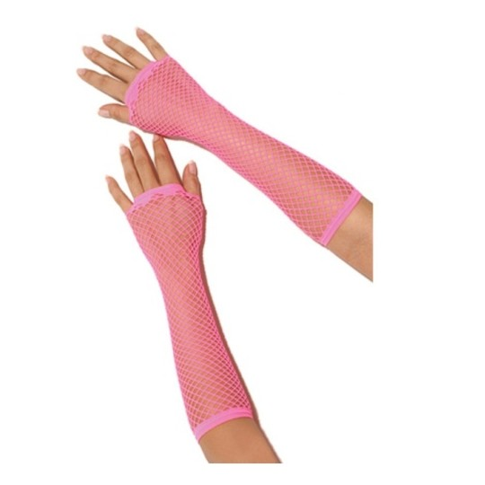 FISHNET GLOVES PINK