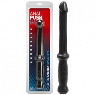 ANAL PUSH DILDO WITH HANDLE BLACK