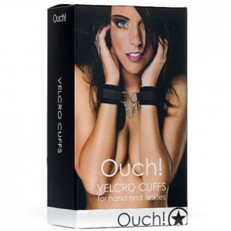 OUCH! VELCRO HANDCUFFS BLACK