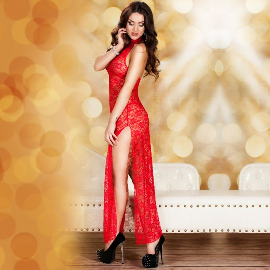 BABYDOLL AND THONG CR-3506 RED