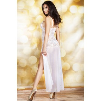 BABYDOLL AND THONG CR-3471 WHITE